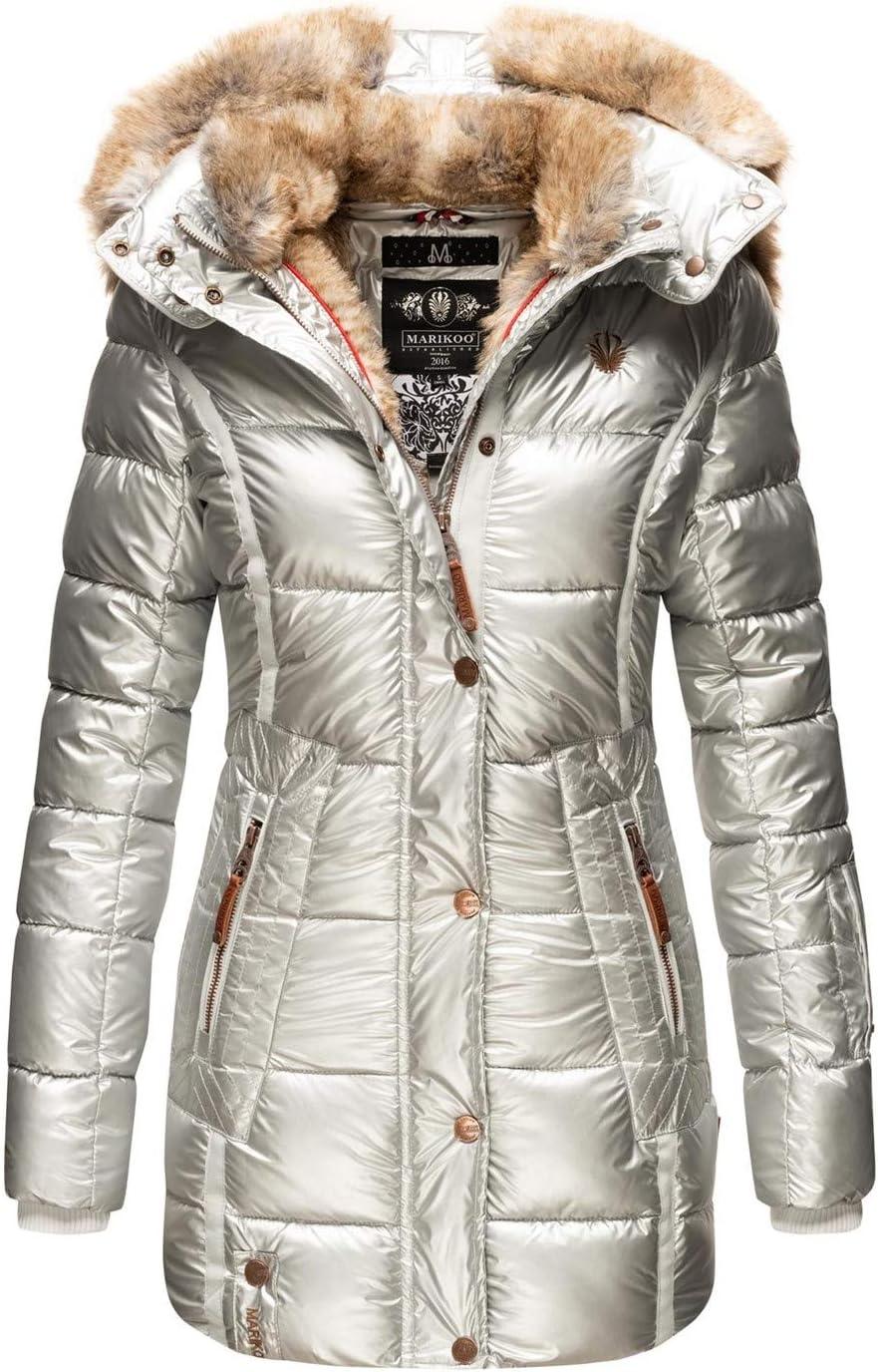 Marikoo B817 Winterjas voor dames, parka, warm gevoerde