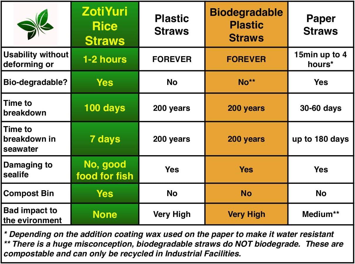 Pajitas biodegradables para beber arroz – BioRizo – Hecho de arroz ...