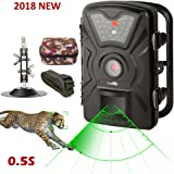 X-Lounger Game Trail Camera 1080P 12MP with Sound Scouting Camera with 2.4in LCD Screen No Glow Black Infrared Night Vision 0.5s Trigger Speed IP66 Waterproof for Wildlife Hunting Monitoring Security