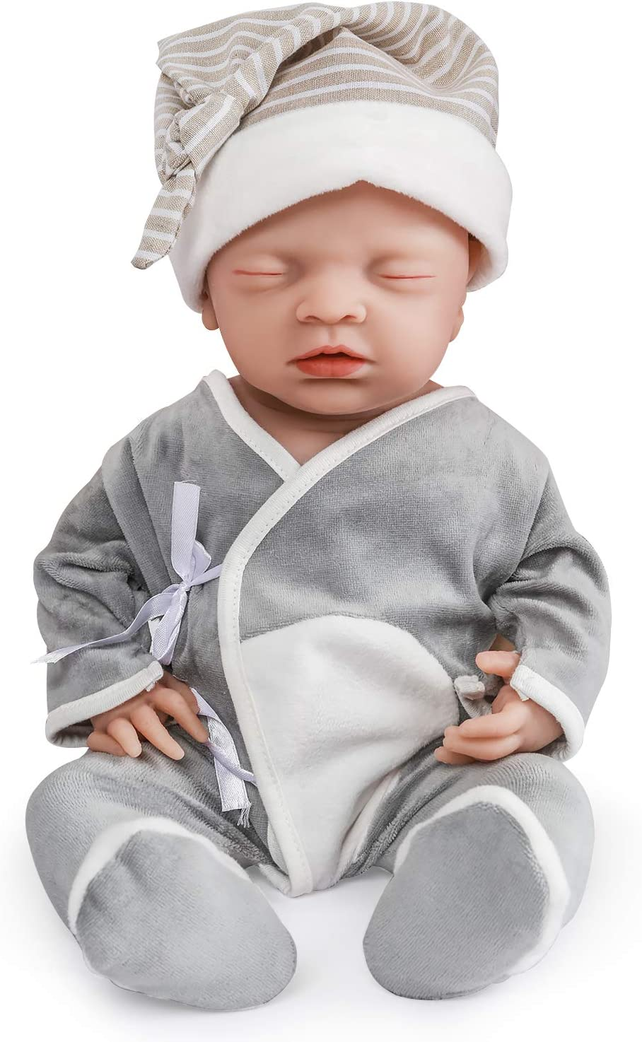 Reborn Toddler Dolls 18/'/' Handmade Lifelike Baby Silicone Vinyl Boy Doll