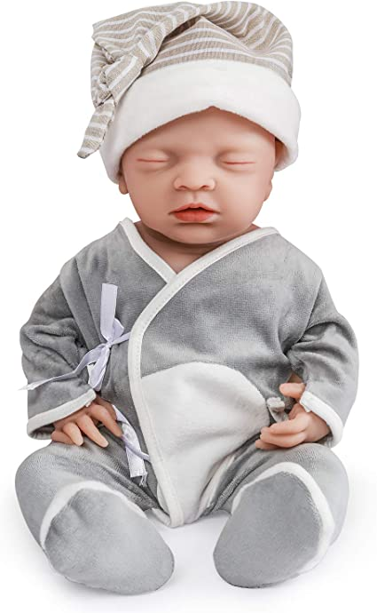 Vollence 18 Inch Realistic Reborn Baby Doll Pvc Free Solid Platinum Liquid Full Body Silicone Real Baby Dolls Lifelike Soft Handmade Silicone Baby Doll With Clothes Amazon Ca Toys Games
