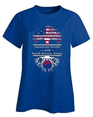 American Grown With South Korean Roots Great Gifts Korea - Ladies T-shirt