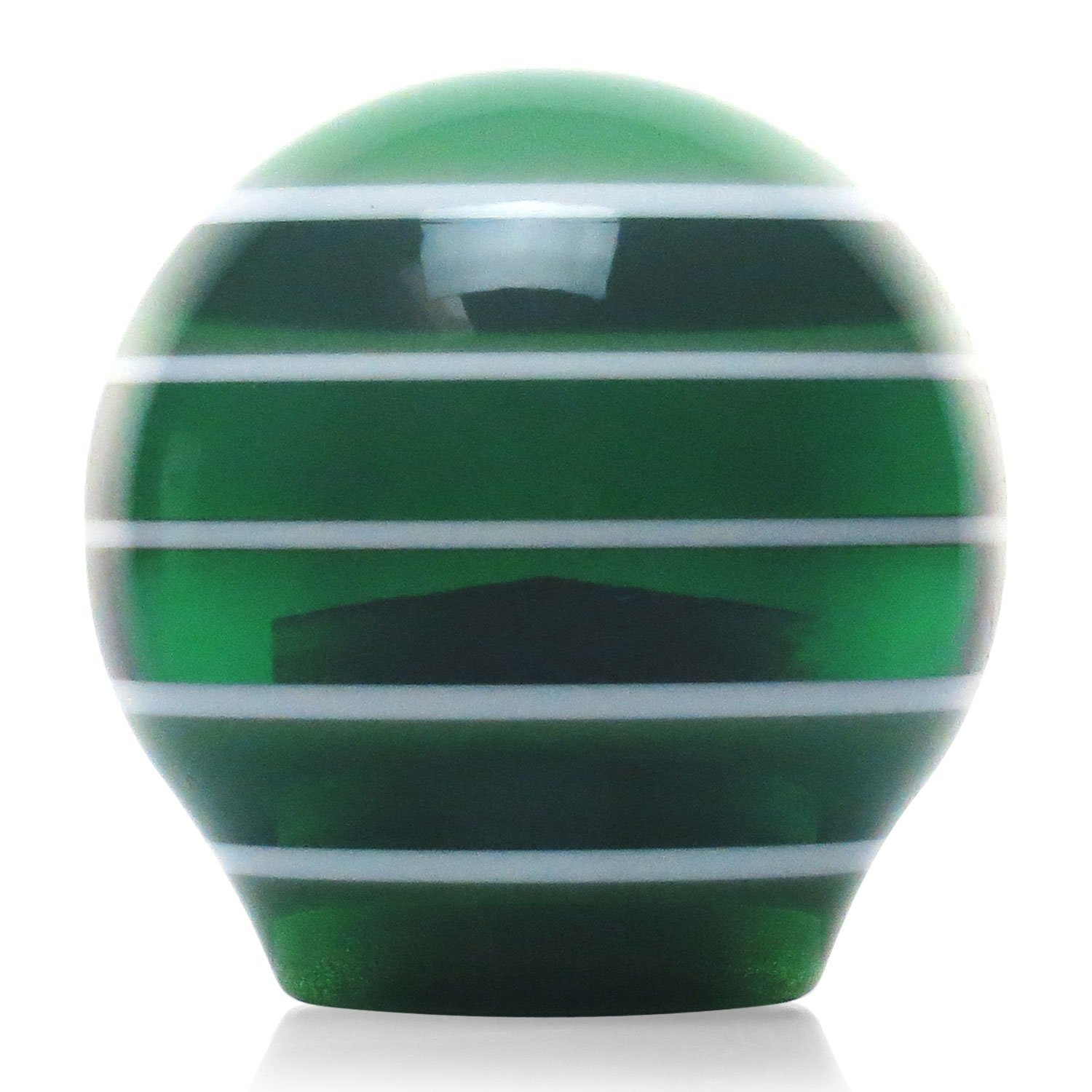 Green Curvy Road American Shifter 128598 Green Stripe Shift Knob with M16 x 1.5 Insert
