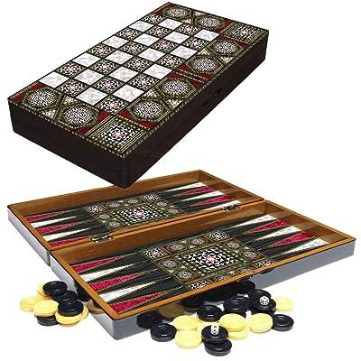 PrimoLiving Backgammon de Madera Orient en Formato XXL 48x48,7 cm: Juguetes y juegos
