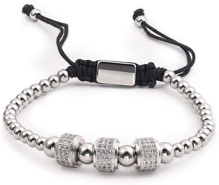 BUREI Women Link Bracelet Dainty Adjustable Bracelets for Girls