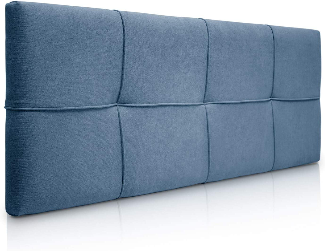 Modelo Square para Camas de 90 100 x 57 cm SUENOSZZZ-ESPECIALISTAS DEL DESCANSO Cabecero de Cama tapizado Tela Azul