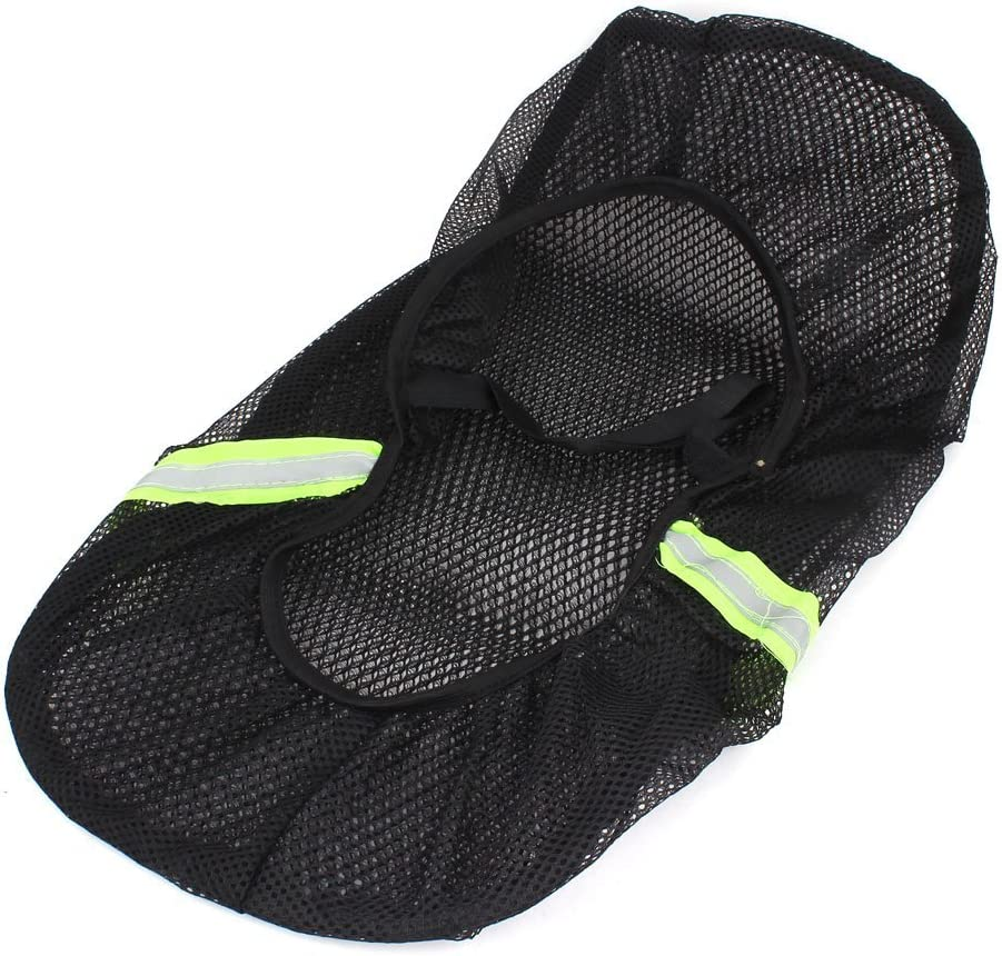 AUTUT Motorcycle Scooter Moped Seat Cover Seat Anti-Slip Cushion 3D Spacer Mesh Fabric XL, Black Blue