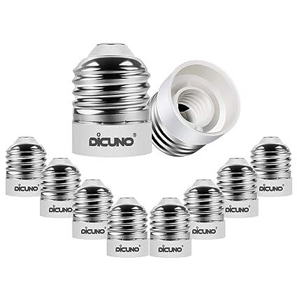 Amazon.com: DiCUNO E26 a E12, adaptador reductor de base de ...