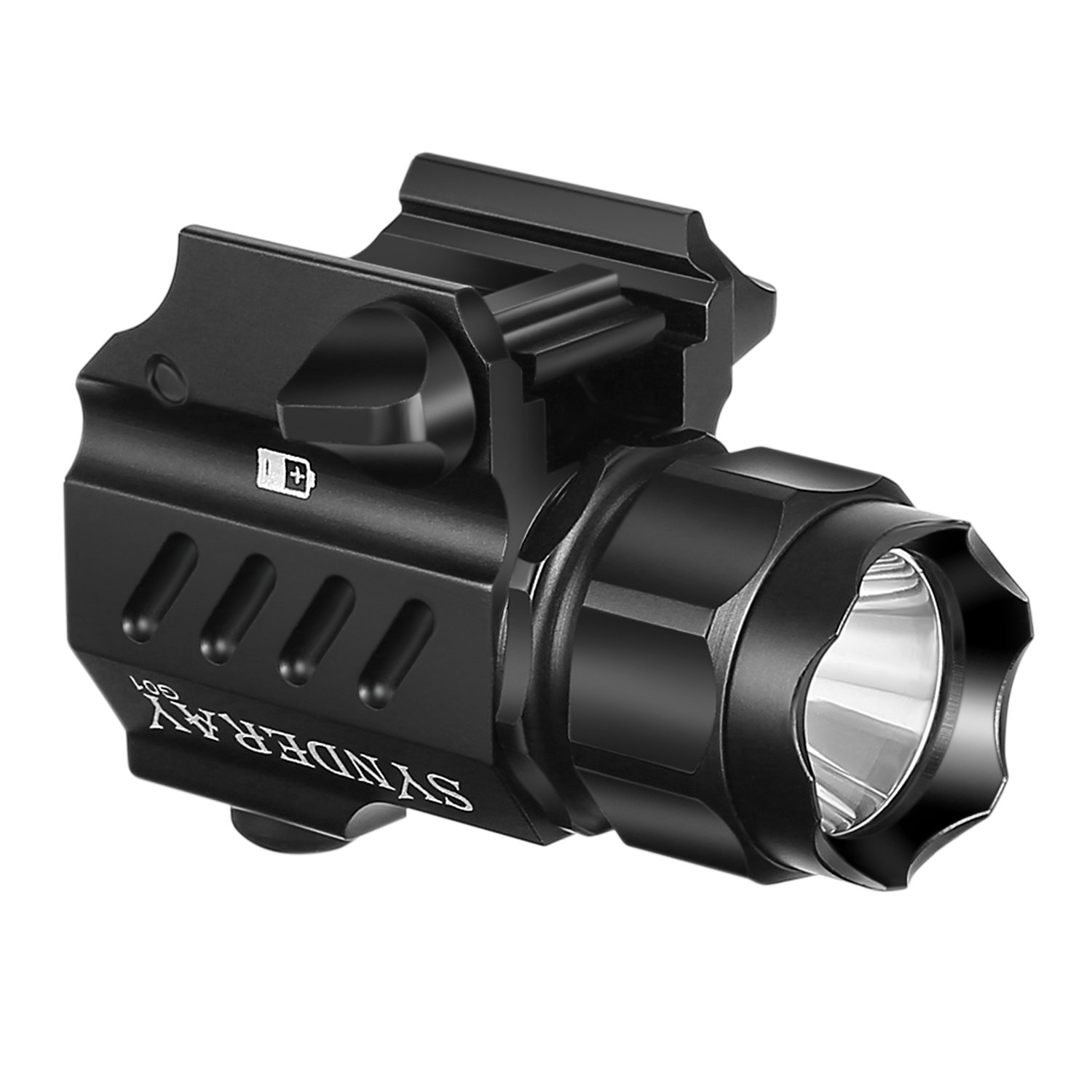 SyndeRay G01 CREE LED Tactical Gun Flashlight 2-Mode 230LM Pistol Handgun Torch Light for Hiking,Camping,Hunting and Other Indoor/Outdoor Activities by SyndeRay (Image #9)