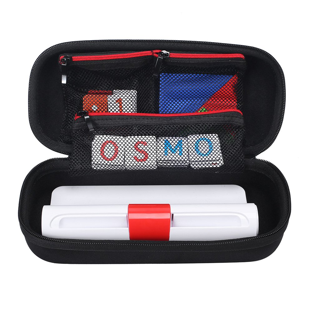 Zaracle Carrying Case for Osmo Genius Kit,Storage Case Travel Bag Protective Pouch Bag Fits For OSMO Base/Starter/Numbers/Words/Tangram/Coding Awbie Game