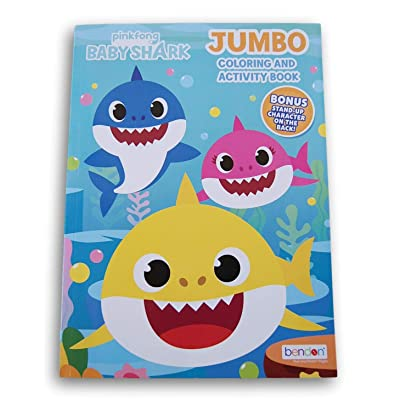 Coloring Books Pinkfong Baby Shark Jumbo Book - 80 Pages: Toys & Games
