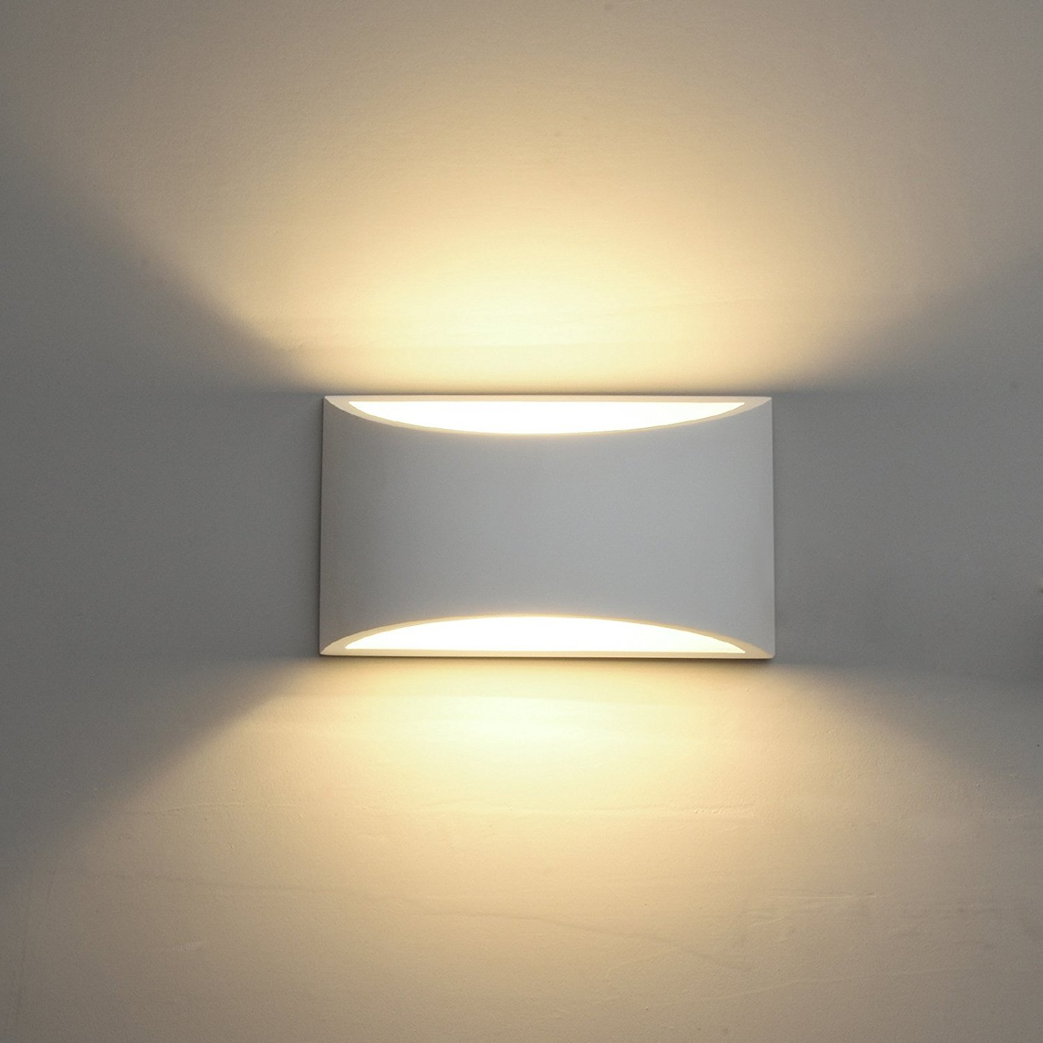 Interior wall lighting amazon deckey wall light led up and down indoor lamp uplighter downlighter warm white mozeypictures Gallery