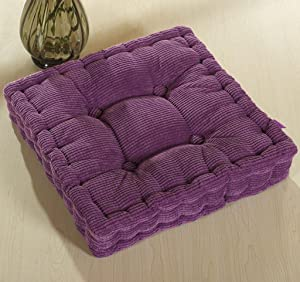 ChezMax Chair Cushions Large Outdoor Indoor Seat Cushion Thickened Bench Mat Durable Floor Pillow Winter Chair Pads for Bedroom Balcony Car Office Patio Sofa Travel Purple 18