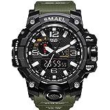 Orologio sportivo digitale multifunzionale di elettronico casuale di affari di sport dell'orologio del quadrante doppio di Digital