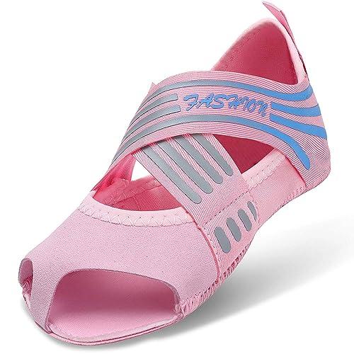 AONETIGER Calcetines Yoga Antideslizantes Mujer Niña Pilates Zapatos Zapatillas sin Dedos Talla 31-42: Amazon.es: Zapatos y complementos