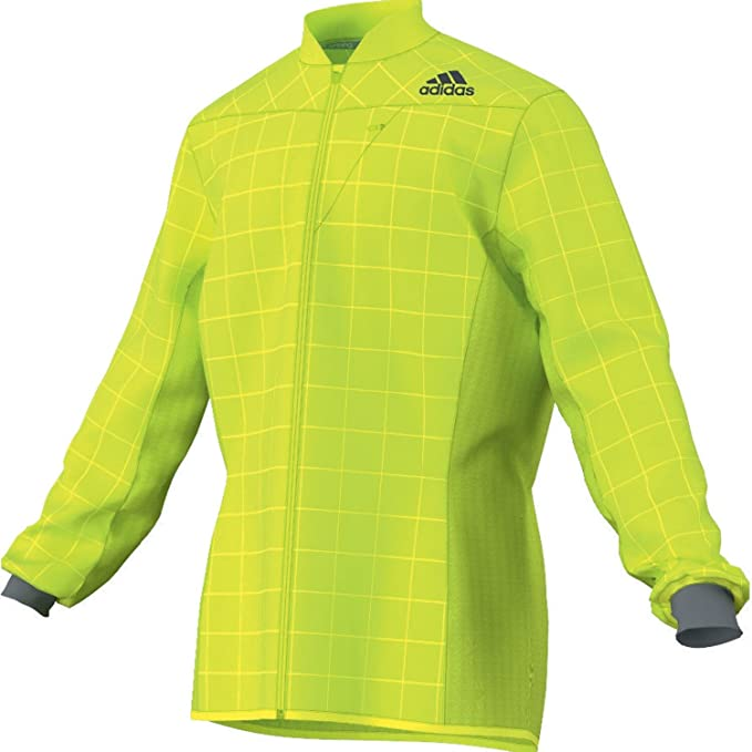 dcbde56e1d90 adidas Smart Running Jacket - X Large Yellow  Amazon.co.uk  Clothing