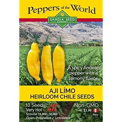 Aji Limo Pepper Seeds- Spicy Andean Chile with Lemony Flavor - Non GMO : Garden & Outdoor