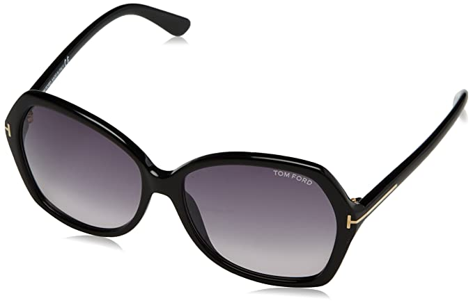 e63024fef02 Image Unavailable. Image not available for. Colour  Tom Ford Women s  Gradient Carola FT0328-01B-60 Black Butterfly Sunglasses