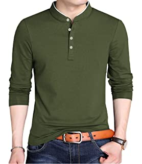 XueYin Mens Solid Cotton Casual Wear Stand Collar Jacket at ...