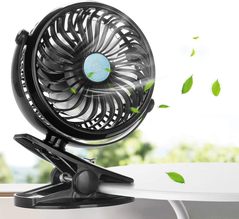 Ventilador USB, innislink Mini Ventilador Clip Fan Portatil ...