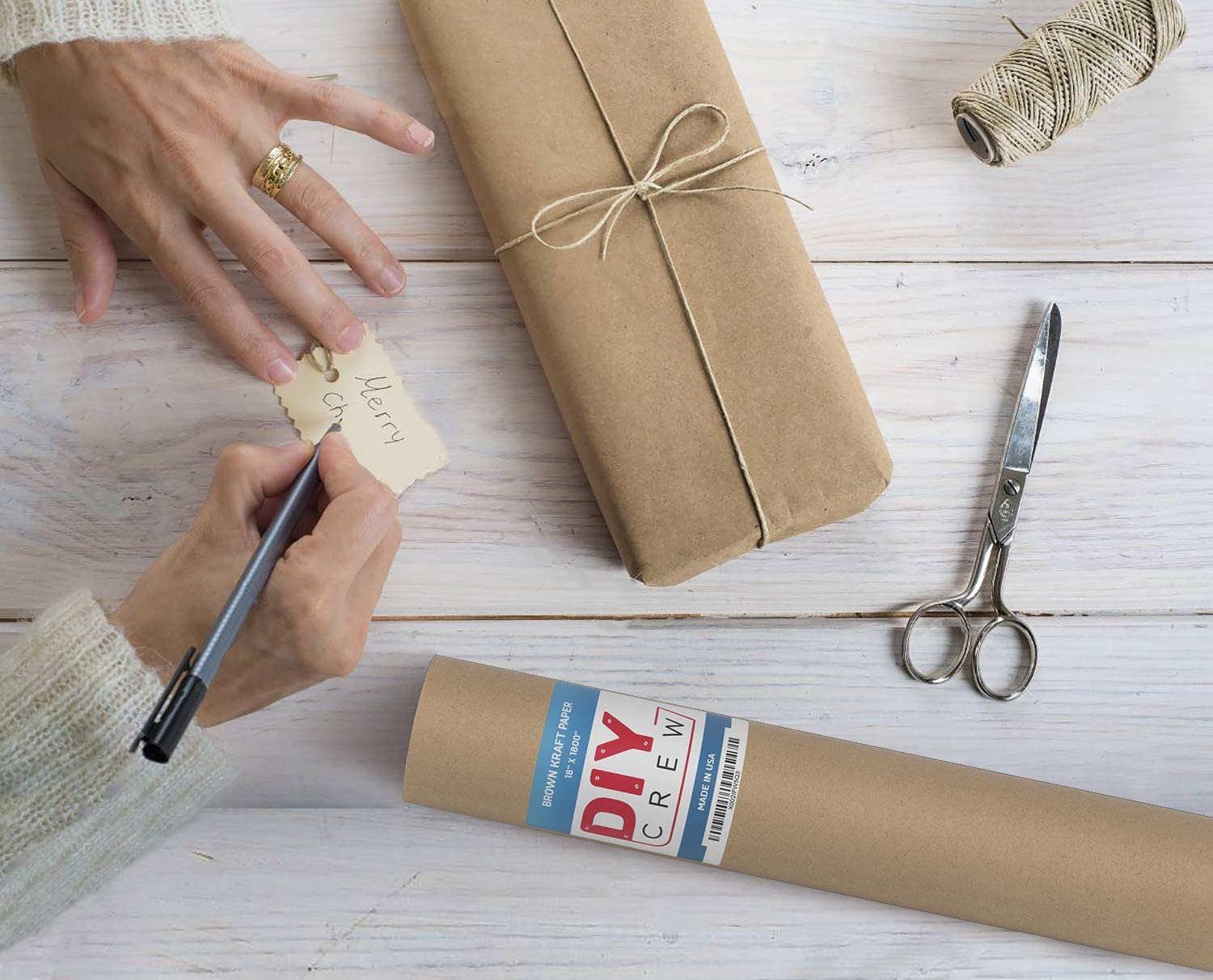 Brown Kraft Paper Roll 30? x 150ft 100/% Recycled Material 1800 inches Surface Covering Proudly Made in The USA Shipping Packing Gift Wrapping Postal Multi-Use for Crafts Single Roll