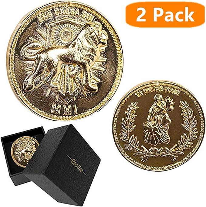 Ajpicture John Wick Gold Coin Cosplay Collection Accesorios para Disfraz de película - Plateado - Talla única: Amazon.es: Ropa y accesorios