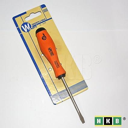 HKB® 1 ranura de destornillador, 0,8 x 4 x 75 mm, acero de vanadio