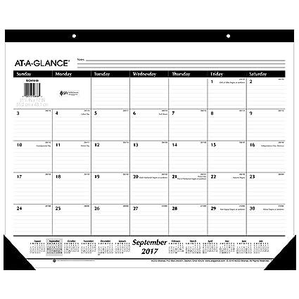 amazon com at a glance academic desk pad calendar september 2017