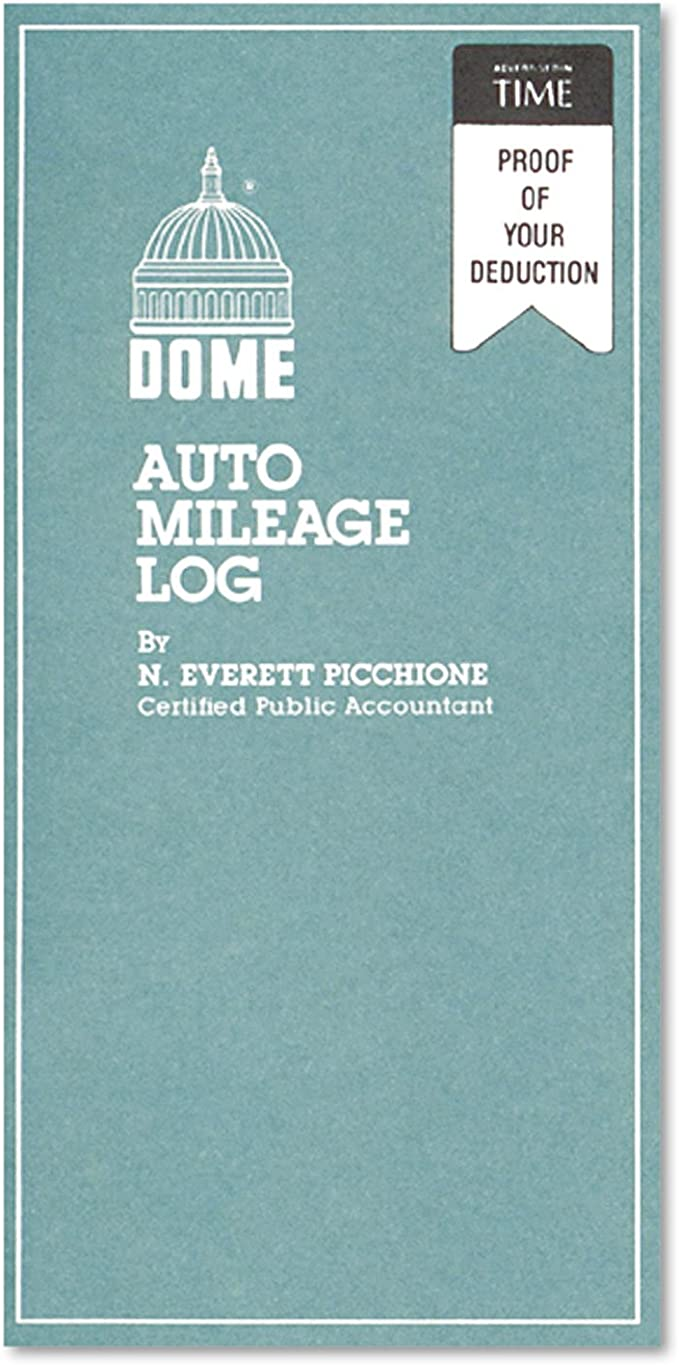 Dome Auto Mileage Log Set of 3 32 Forms Undated