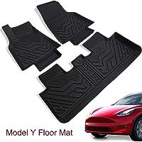 Tesla Model Y Floor Mat All-Weather Anti-Slip Waterproof Floor Liners Set