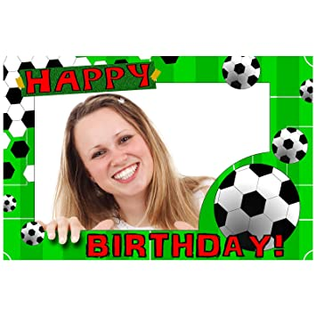 0f009322e9f5 Football Happy Birthday Selfie Photo Frame Prop  Amazon.co.uk  Toys   Games