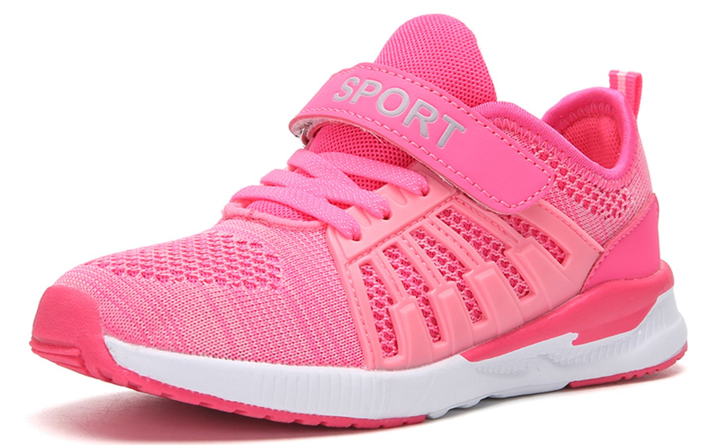 SunSunday Toddler Kid's Breathable Boys Girls Running Shoes Pink 29