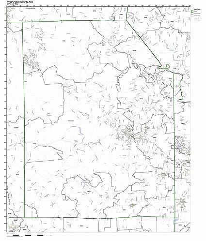 Amazon.com: Washington County, Missouri MO ZIP Code Map Not ...