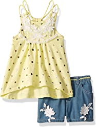 c18e9fbd7 Nannette Girls' 2 Piece Fashion Denim Short Set