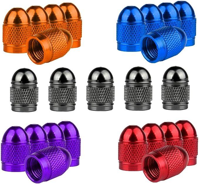 Senven 25 Pcs Hochwertige Farb Ventilkappen Aluminium Ventilkappen Reifenventil Staubkappen Auto Motorrad Lkw Fahrrad Verhindern Luftleckage Universal Reifenventilkappen Baumarkt