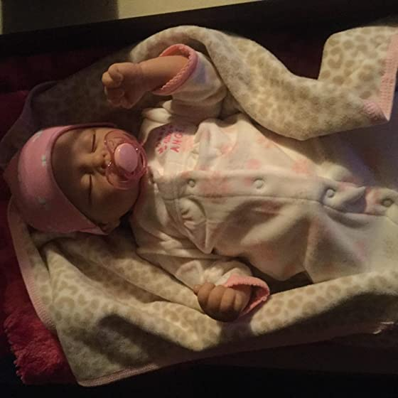 The Ashton - Drake Galleries Sophia Breathes, Coos and has a Heartbeat - So Truly Real Lifelike, Interactive & Realistic Weighted Newborn Baby Doll 19-inches Little beautiful Sophia