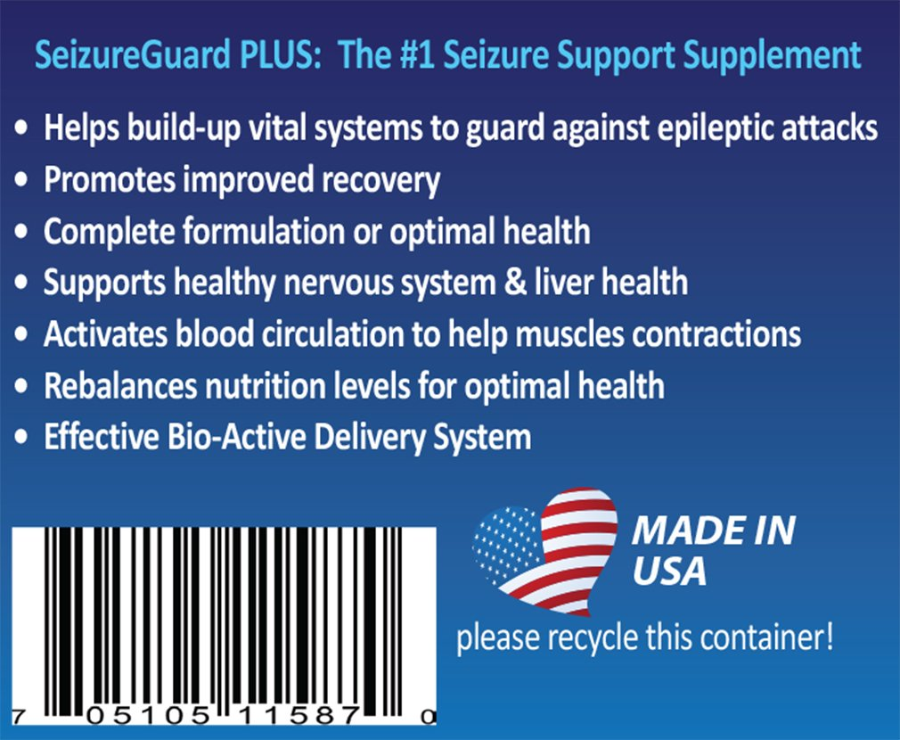 Amazon.com : SeizureGuard PLUS Dog Seizure & Epilepsy Supplement. Great  Supplement for Dogs with Seizures! Can be used alone or with seizure  medication for ...