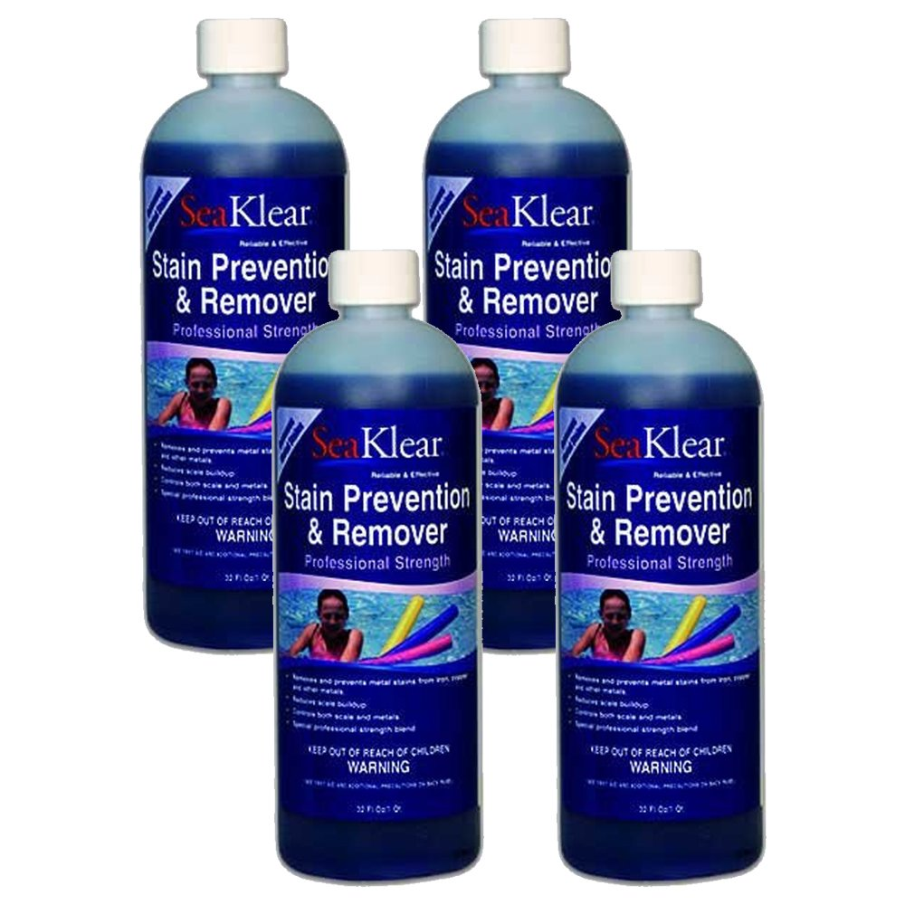 4 Pack SeaKlear Stain Prevention & Remover 32oz by SeaKlear