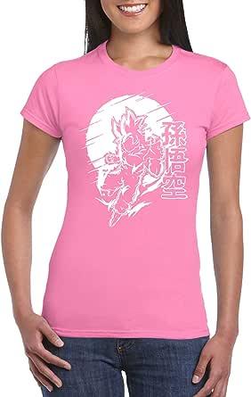 Pink Female Gildan Short Sleeve T-Shirt - Goku – Japanese Circle design