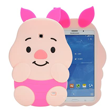 official photos 3e8b4 cd337 Samsung Galaxy Tab 4 7.0 SM-T230,SM-T231 Case,Phenix-Color 3D Cute Soft  Silicone [Drop Proof,Shock Proof,Anti Slip] Cartoon Gel Rubber Back Cover  ...