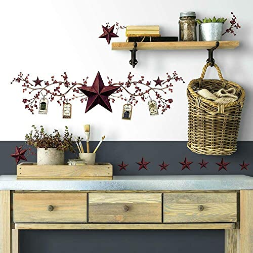 star and berry wall decals