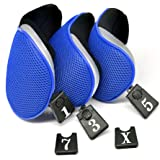 Debonice 3pcs/Set Golf Driver Wood Head Covers with Interchangeable No. Tag Pack of 3