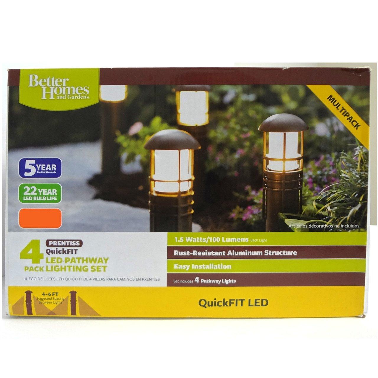 4-Piece QuickFIT LED Bollard Better Homes and Gardens BH17-092-099-28