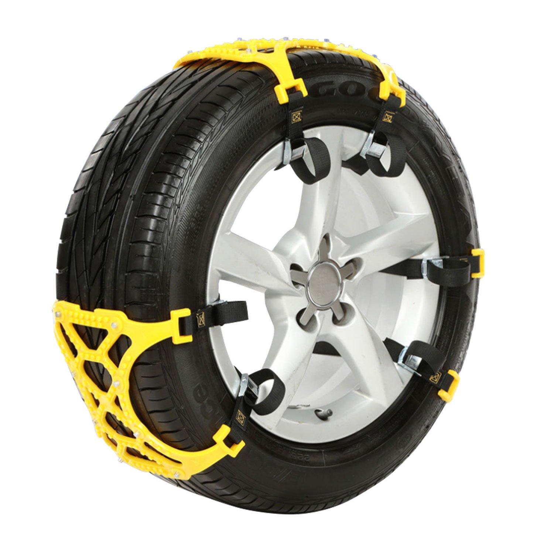 非金属 タイヤチェーン 簡単取付 ジャッキアップ不要 汎用 タイヤ 2本用 スノーチェーン 冬 雪道 積雪 凍結 アイスバーン スリップ 事故防止 緊急 非常用 K-TIR01 B007VXE0R8