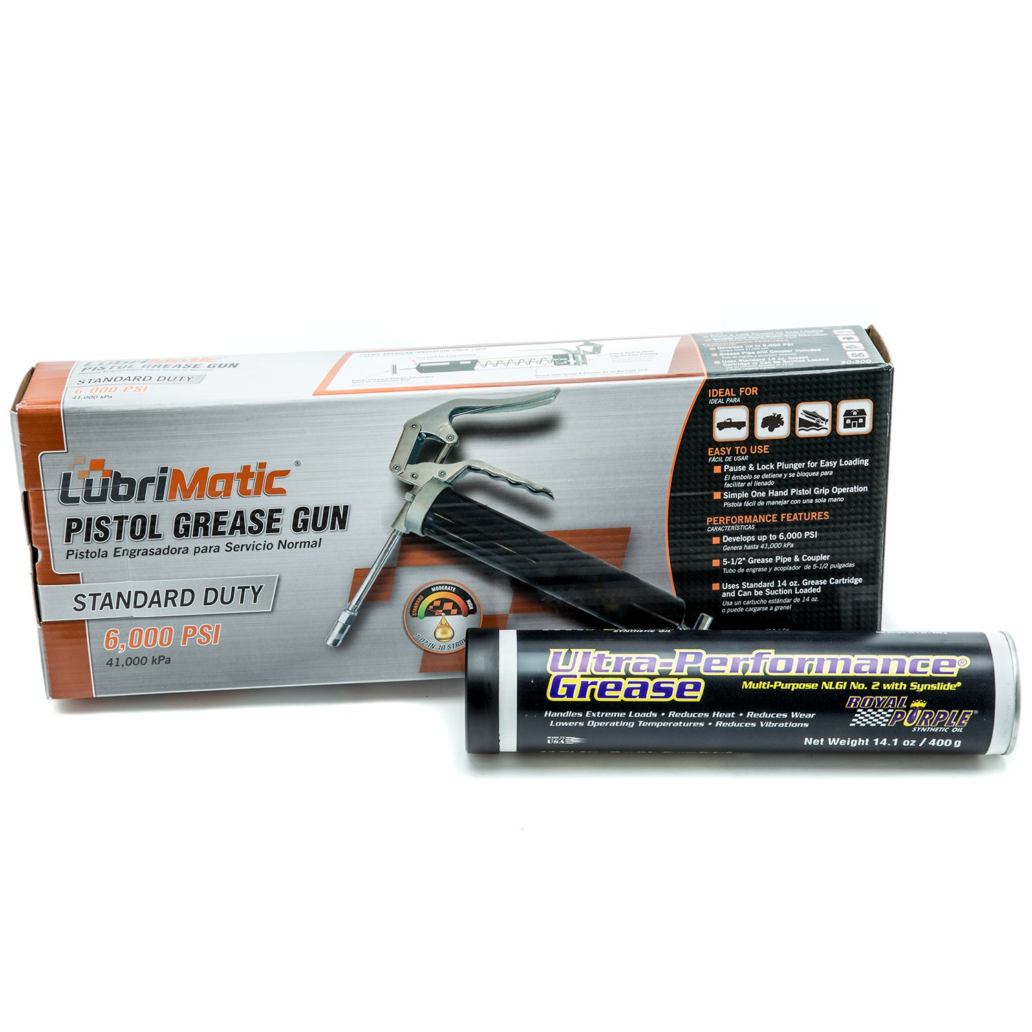 Royal Purple 01312 NLGI No. 2 High Performance Multi-Purpose Synthetic Ultra Performance Grease with Grease Gun