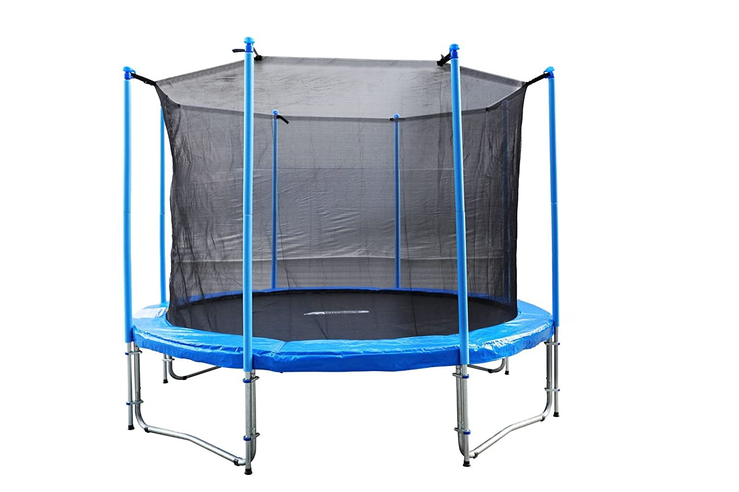 FA Sports Gartentrampolin mit Sicherheitsnetz Flyjump Monster II, blau, 366 cm, 1221