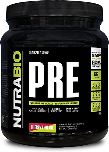 NutraBio PRE Workout V5 – Cherry Limeade