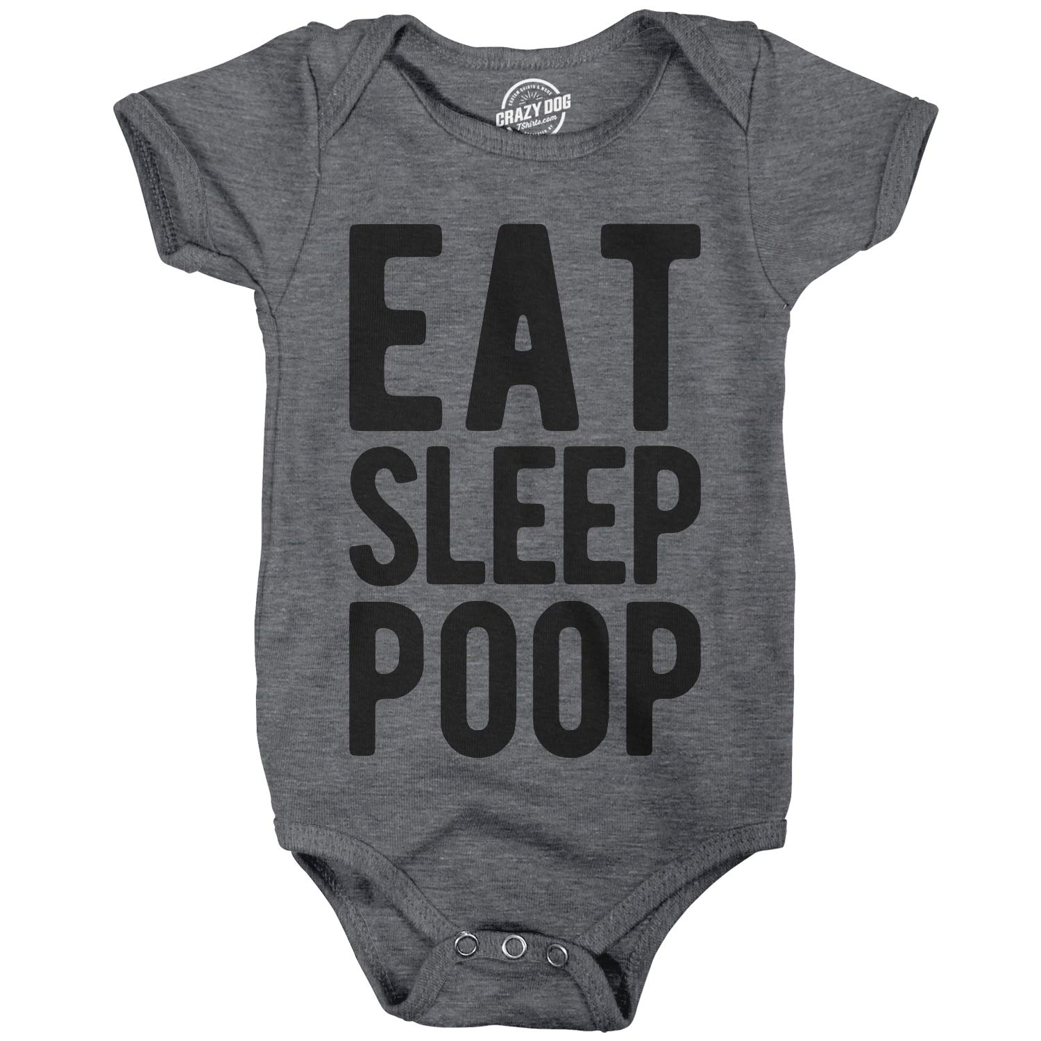 Crazy Dog Tshirts Pagliaccetto per Bambini Romper Eat Sleep Poop Funny Baby Clothes Cute Newborn Undershirt for Gift