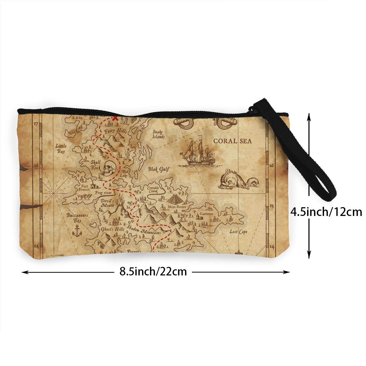 Maple Memories Coconut Palms Portable Canvas Coin Purse Change Purse Pouch Mini Wallet Gifts For Women Girls