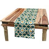 Dining Room Kitchen Rectangular Runner ABAKUHAUS Ottoman Table Runner Multicolor Vintage Floral Motifs from Ancient Culture Ornamental Art Style Folkloric Print 16 W X 90 L Inches